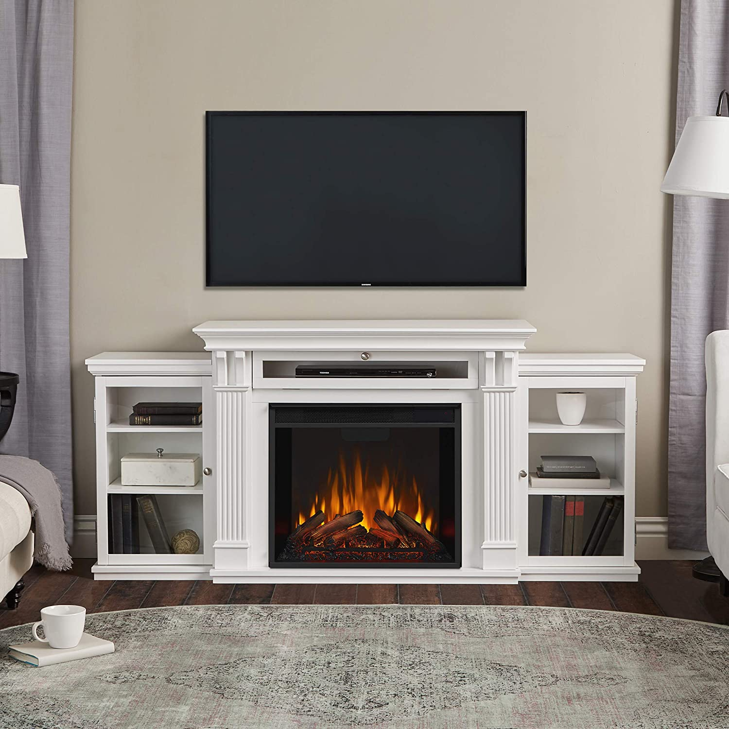 Real Flame Media Calie Electric Fireplace TV Stand