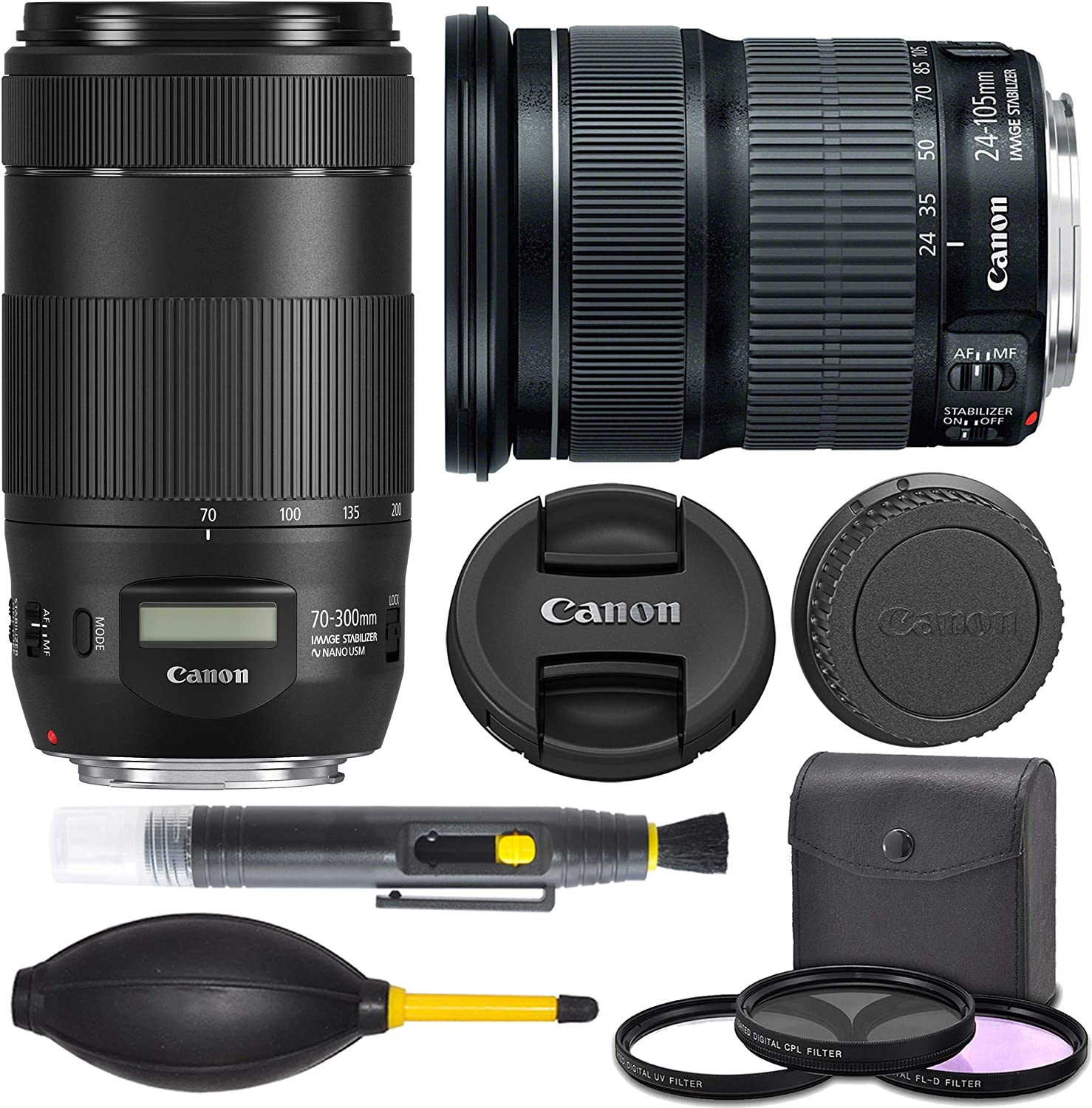 AOM Full Frame Canon EF 24-105mm And EF 70-300mm Bundle