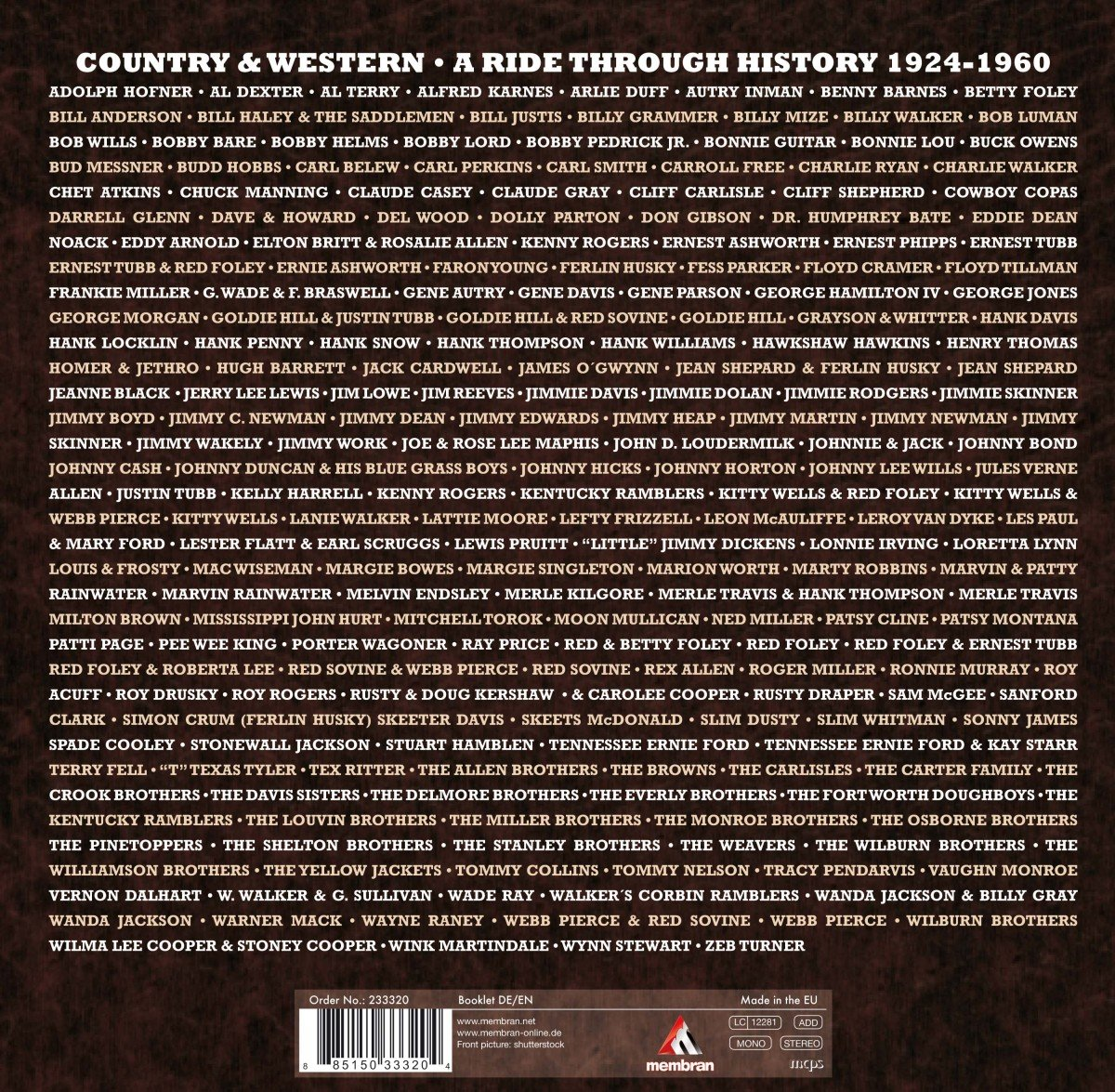 Country & Western - a ride through History 1924-1960: Amazon.de: Musik