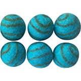 Pet Pizazz 100% Wool Cat Ferret Small Dog Ball Toy 6-Pack