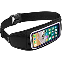Sporteer Zephyr Slim Running Belt for iPhone 11 Pro Max, 11, 11 Pro, Xs Max, XR, X, 8/8 Plus, Galaxy S10 Plus, S10, S10e, Note 10+, Note 10/9, S9, S9+, S8+, Pixel 3 XL, and MANY More Phones & Cases