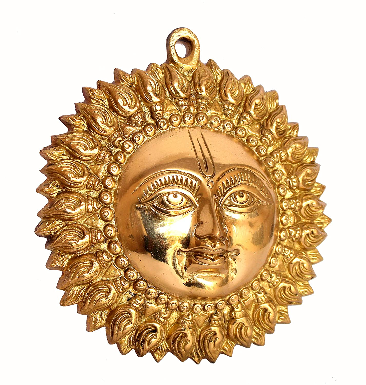 Buy Stonkraft Ideal Gift  Beautiful Sun (Surya) Face Murti