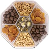 Mother's Day, Holiday Gift Basket, Birthday Gifts Basket - Nut Fruit Tray Assortment with Gourmet Chocolate - Prime Food…