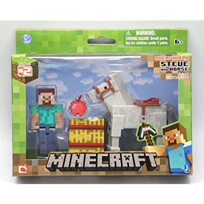 Minecraft Steve with White Horse Figure Pack: Toys & Games