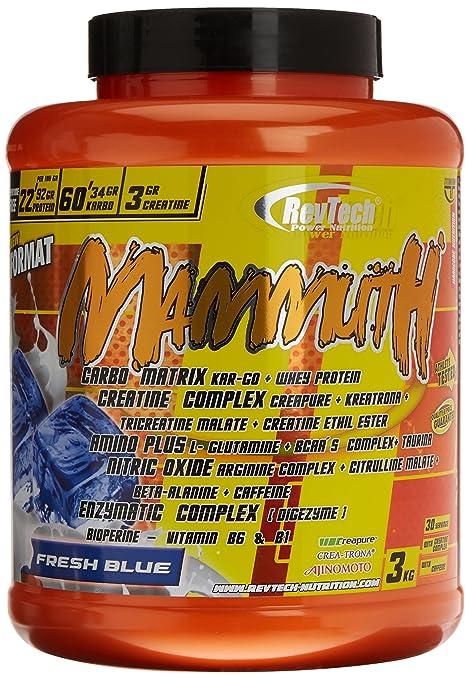 Revtech Mammuth Carbohidratos y Proteína, Sabor Fresh Blue - 3000 gr