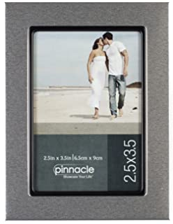 pinnacle frames silver desk frame with black lip 25 inch by 35 inch - Double Glass Picture Frame