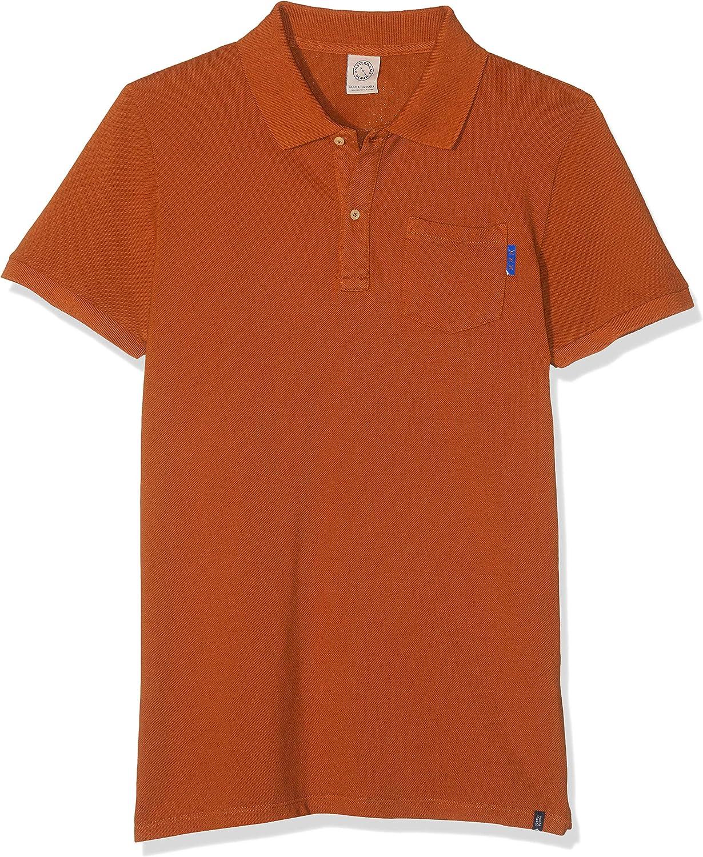 Scotch /& Soda Blauw Garment Dyed Polo Bambino