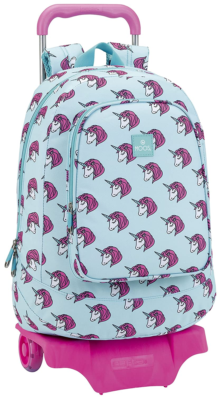 Safta Mochila Moos Unicorn Escolar Grande Con Carro Safta 320x160x440mm: Amazon.es: Equipaje