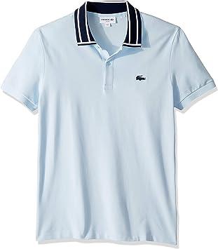 Lacoste Camisa tipo polo de corte ajustado para hombre S/S Stretch Pique Slim Fit a rayas, talla XL: Amazon.es: Salud y cuidado personal