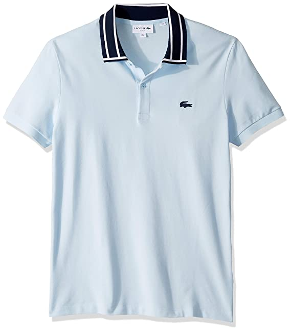 f06377ad5a4 Lacoste Mens S/S Stretch Pique Slim Fit Striped Collar Polo Polo Shirt:  Amazon.ca: Clothing & Accessories