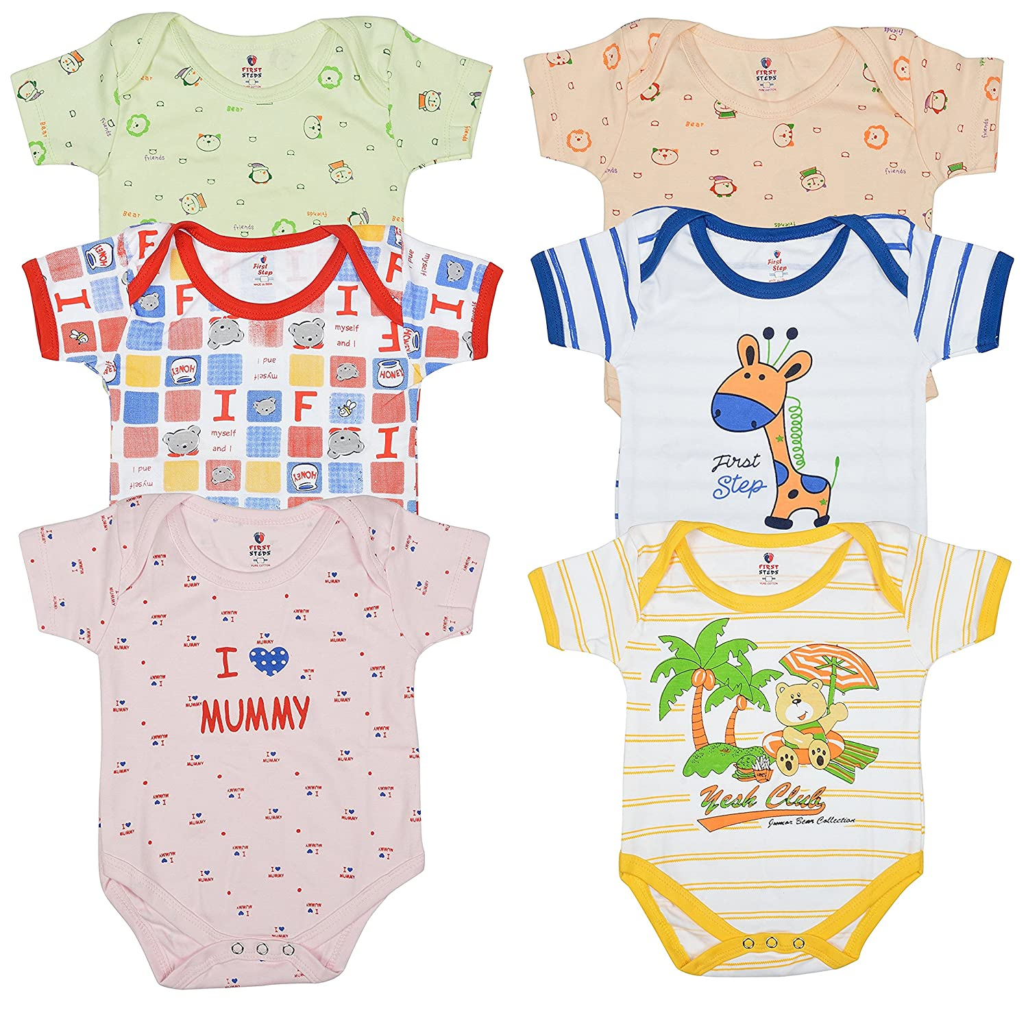 1fcee86d5 Baby Clothes for New born Infant Girl Boy Cotton Rompers Bodysuit ...