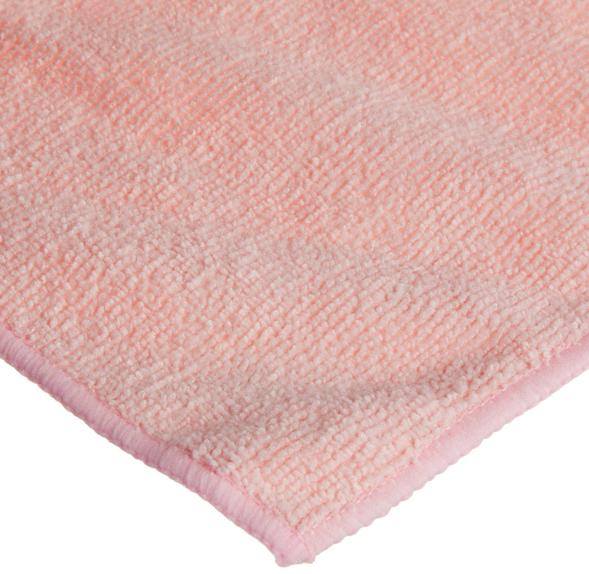 Wilen E841016, Supremo Microfiber Cloth, 16'' Length x 16'' Width, Pink, Bulk Pack (Case of 180)