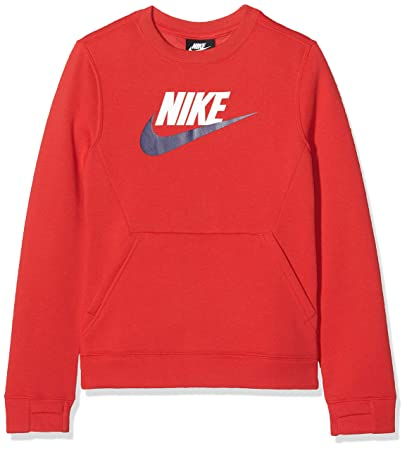 Nike B NSW LS Crew Club FLC Hbr, T Shirt A Manica Lunga Bambino