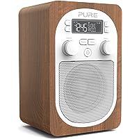 Radio DAB – Pure Evoke H2 – radio numérique portable DAB+/FM – Prise casque – entrée auxiliaire – alarme – 20 présélections – minuteurs de cuisine et de mise en veille – Walnut