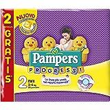 Pampers Progressi Pannolini Mini, Taglia 2 (3-6 kg), 4 Confezioni da 30 (120 Pannolini)