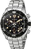 Bulova Men's 98B244 Sea King Analog Display Japanese Quartz Silver Watch