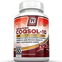 BRI Nutrition COQ10 100mg Ubiquinone Heart Health - 2.6X Higher Total Coenzyme Q10...