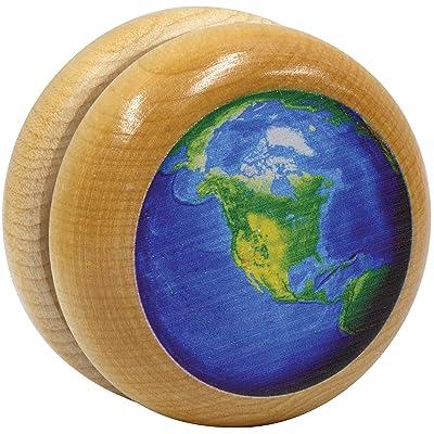 Maple Landmark wooden Earth Yo-Yo: Toys & Games