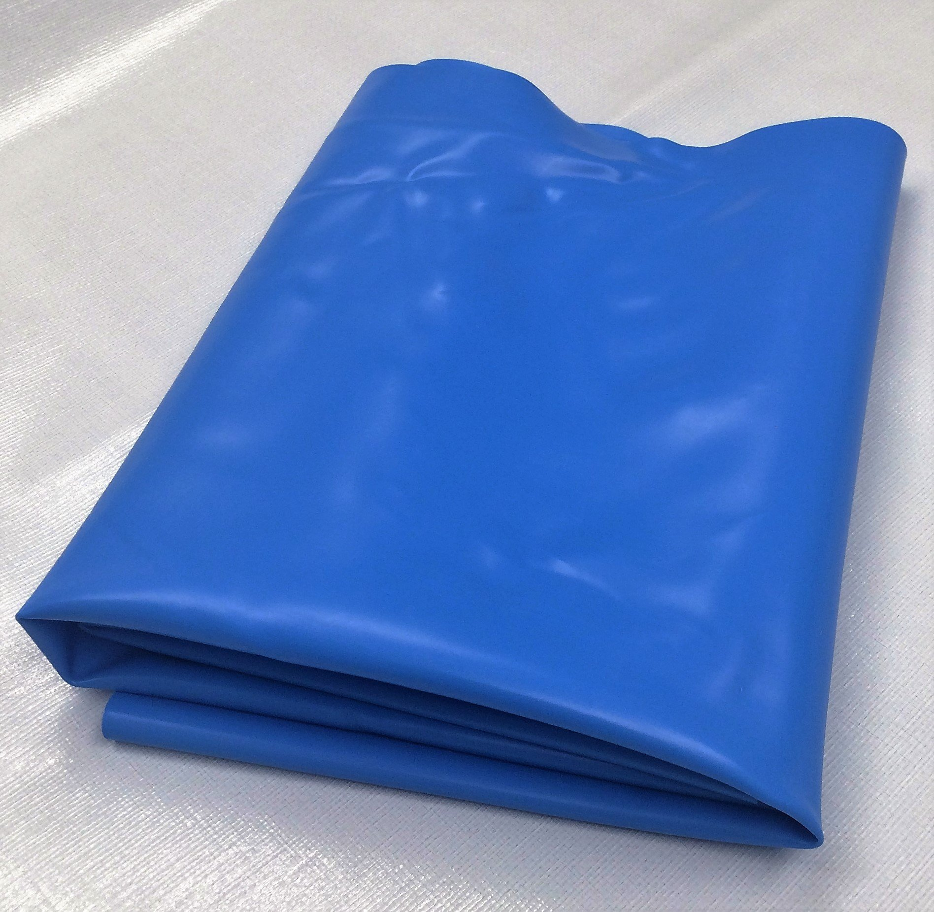Blue Pond Liner - 10' x 12' in 30-mil Blue PVC for Koi Ponds, Streams, Fountains and Water Gardens by USA Pond Products