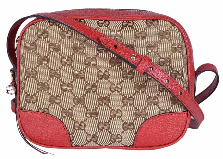 4516c2bf099 Gucci Women s Canvas Leather GG Guccissima Small Bree Crossbody Purse (Beige Red)   Amazon.ca  Shoes   Handbags
