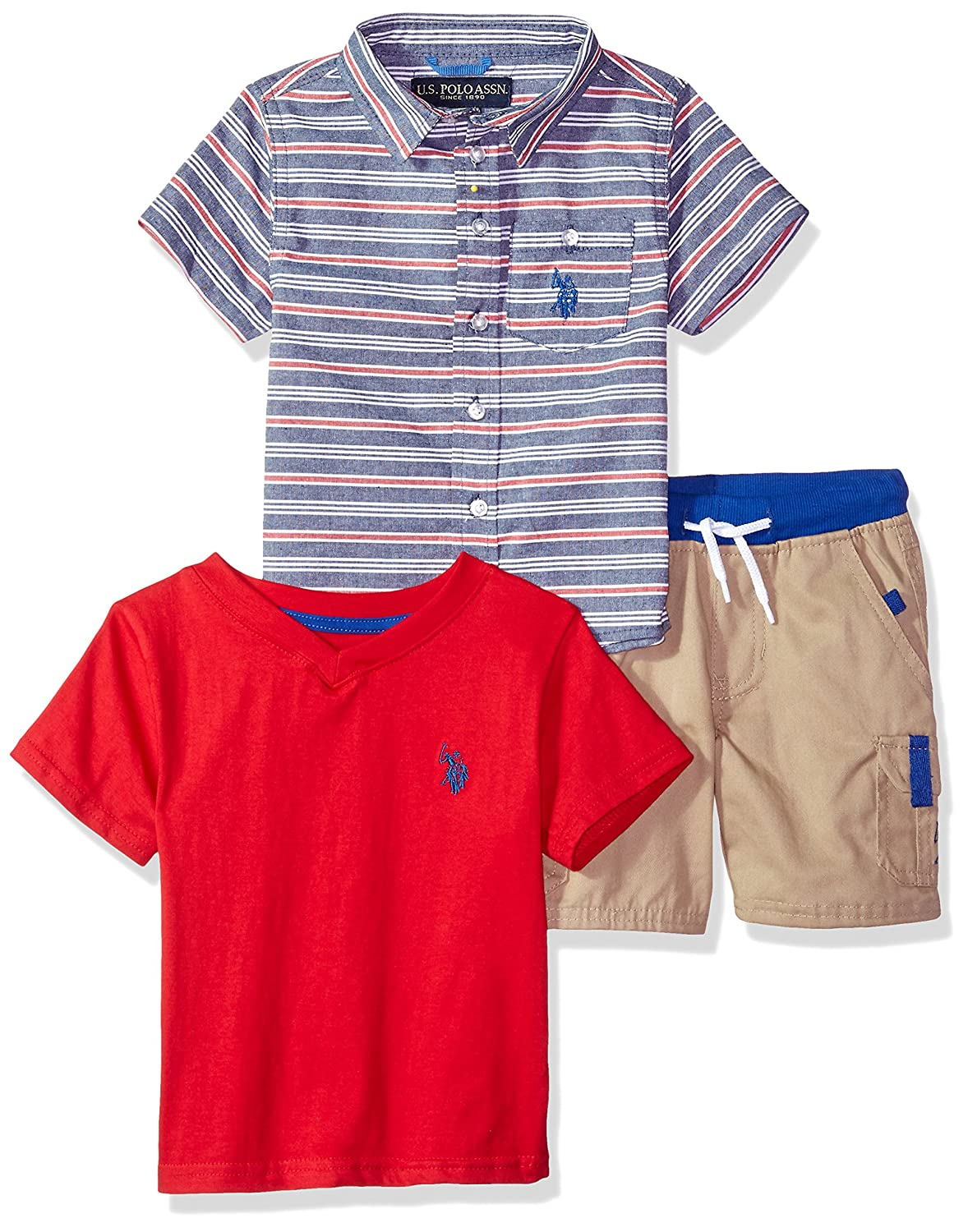 U.S. Polo Assn. Boys Sleeve, T-Shirt and Short Set