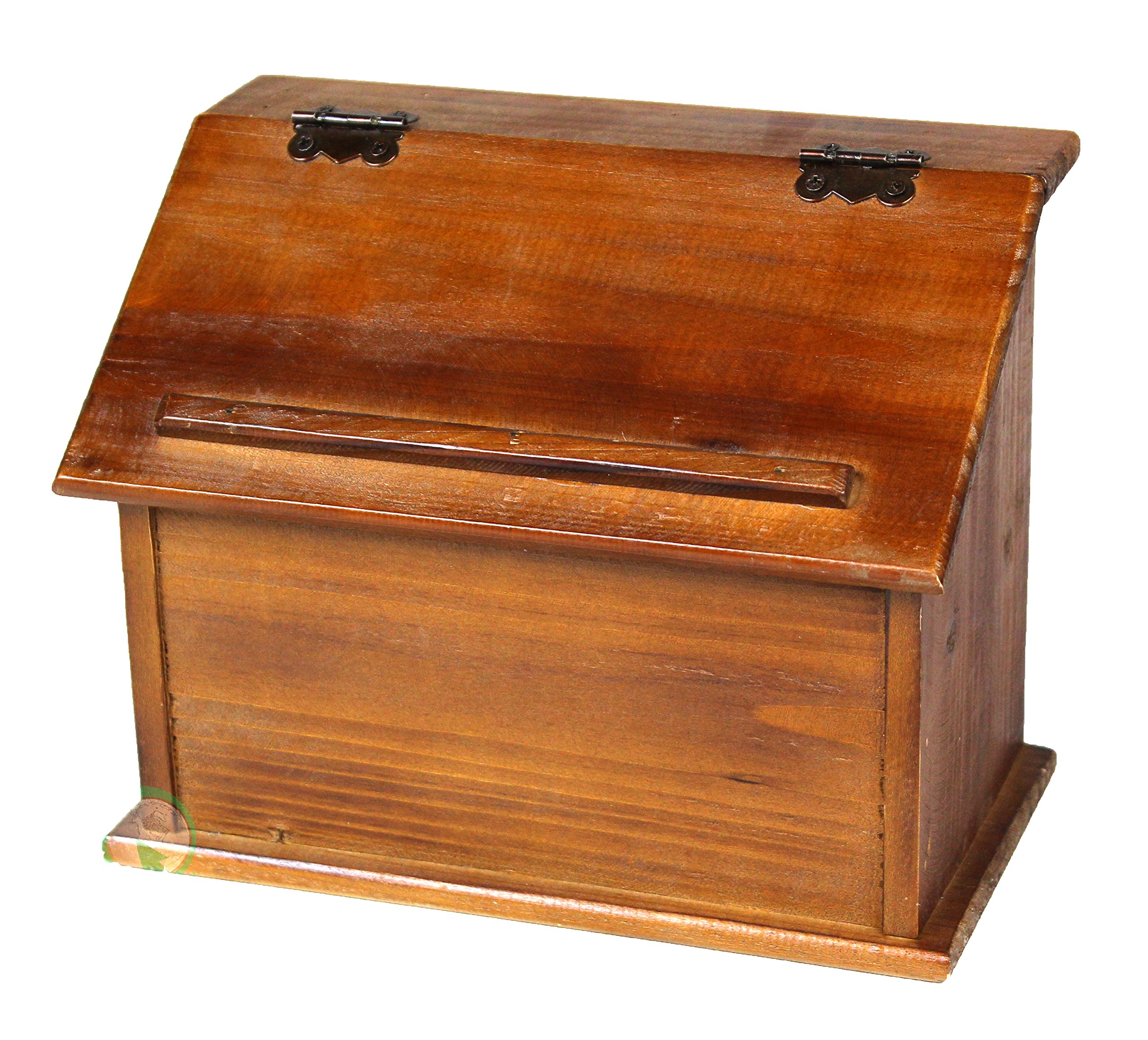 Vintiquewise(TM Old Style Wooden Podium Recipe Box