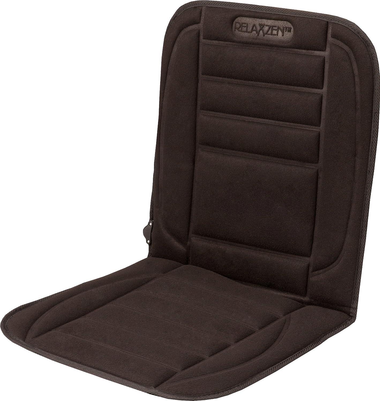 Relaxzen 12V Standard Heated Seat Cushion Black Velour 60-2801H05
