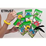 Mosquito Repellent Bracelet that work KEEPS YOU FREE FROM INSECTS BUGS MIDGES MOZZIE BITES 10 Wristbands each band Lasts up to 300 Hours Waterproof Natural 100% Deet Free Safe for Children Adults Indoors and Outdoors