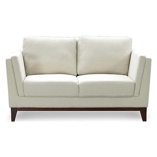 Lujoso sofá Harold tapizado, diseño escandinavo, crema, 2 ...