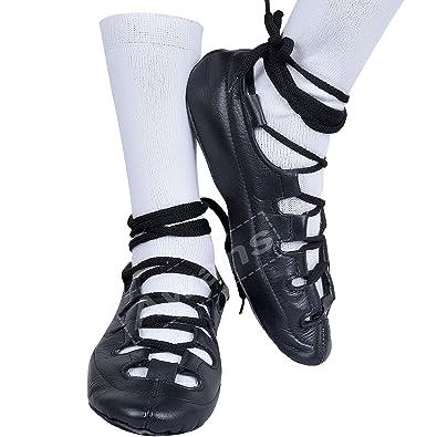 Tds Irish dance pumps - Zapatillas de danza de cuero para niña negro negro uzcXPaZs