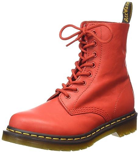 Dr. Martens Pascal Virginia Buffalo Blood, Women's Boat Shoes, Red (Buffalo  Blood