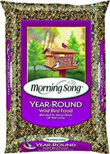 Morning Song 014203 1022526 Year-Round Wild Bird Food, 40-Pound, 40 lb, Brown/A