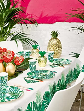 """24 Fresh Lime Green 9/"""" Lunch Plates Touch of Color Luau Summer Birthday Parties"""