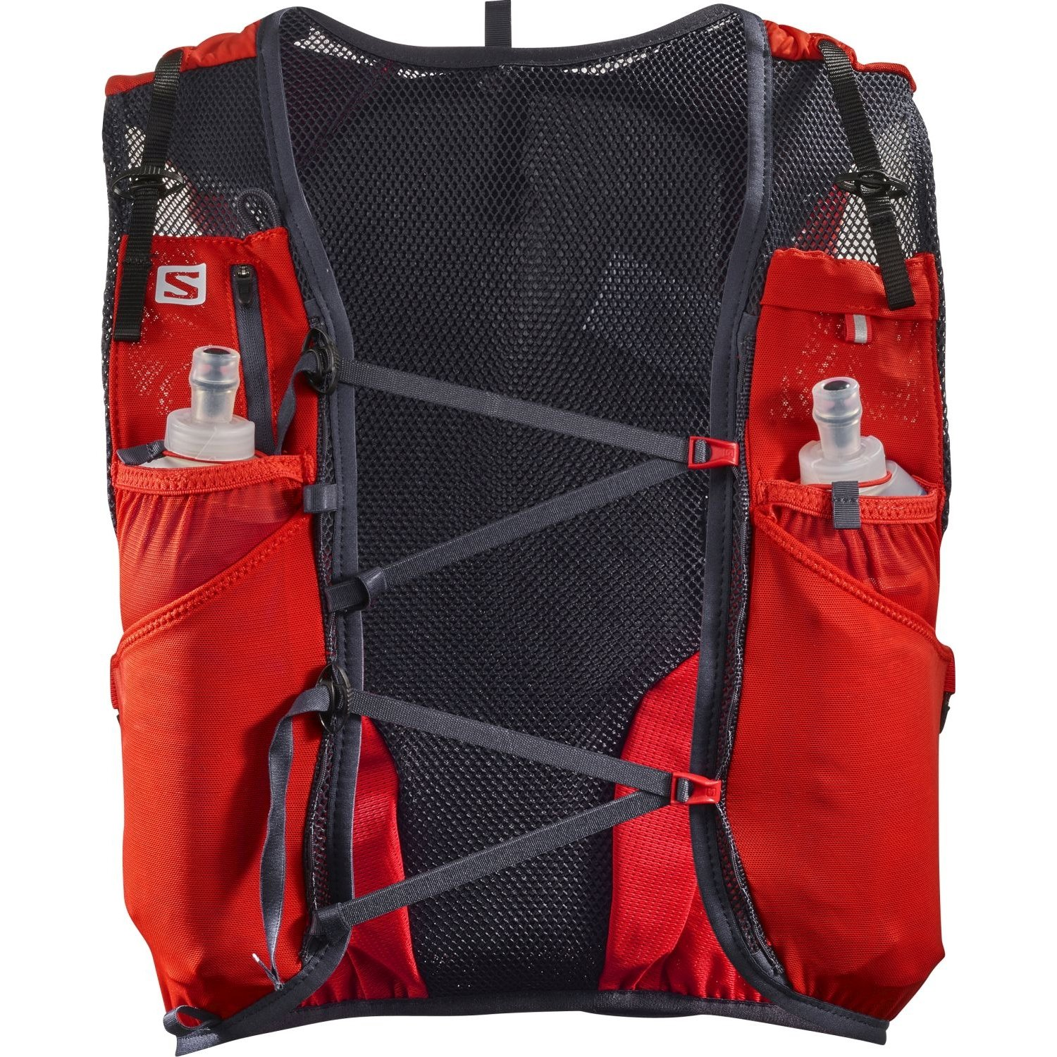 M Orange Mud Gear Vest Pro, 35oz 1L of on Board Hydration, Plus Sized Phone Storage, Super Stable Footprint for Run and Ride.