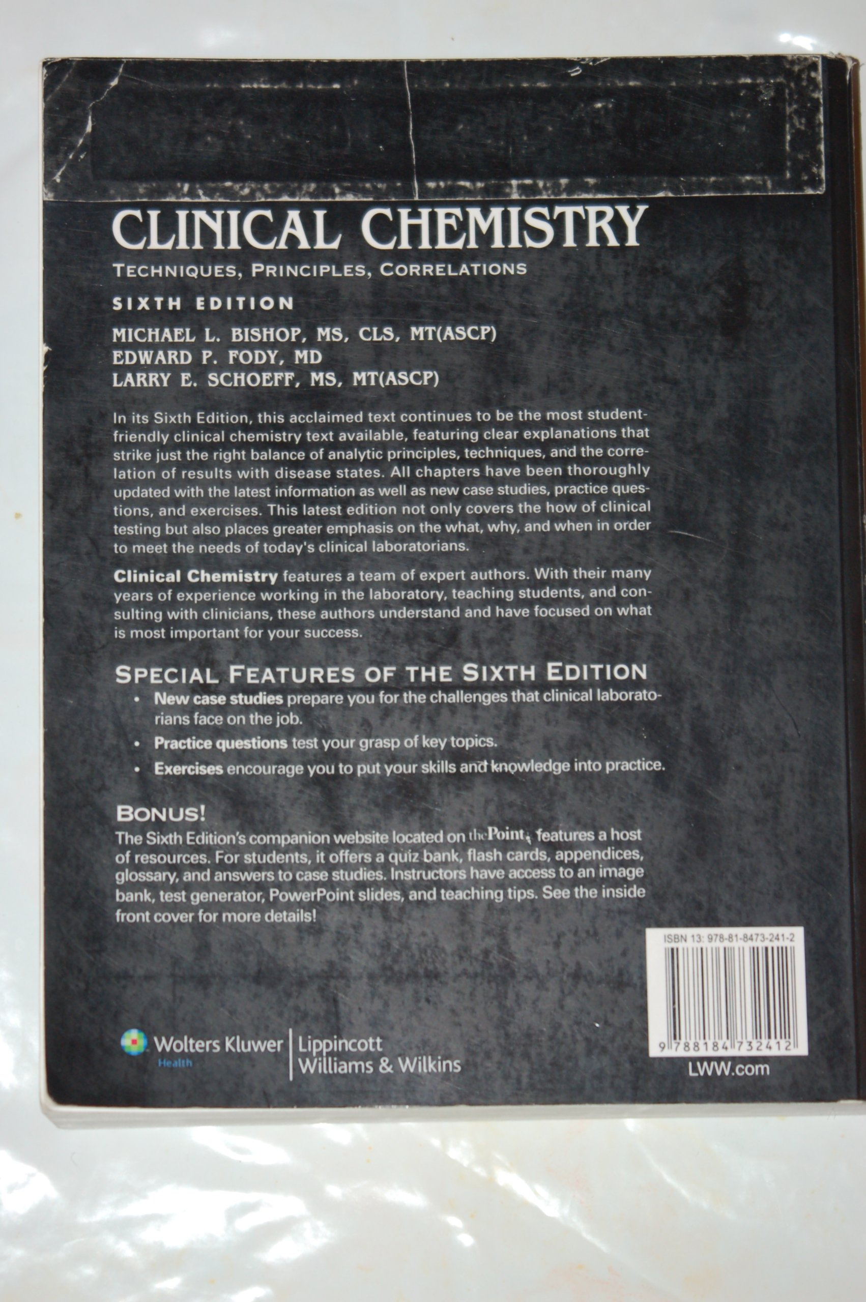 Buy Clinical Chemistry: Techniques, Principles, Correlations (Old