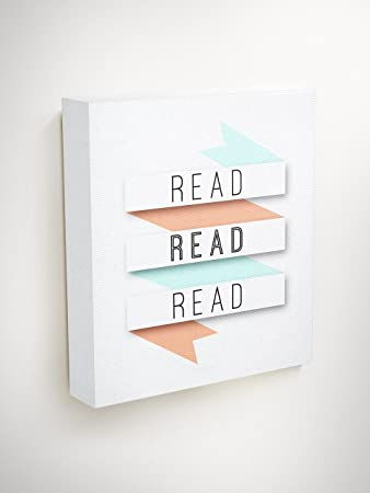 Amazon.com: Reading Wall Art Canvas Quotes Motivation Gifts For ...