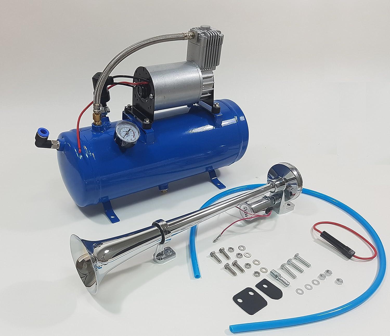 Solo-Single-Compact-Drucklufthorn 150-PSI-Liter-Luft-Kompressor Signalhorn//Zughorn//Schiffshorn 12/V