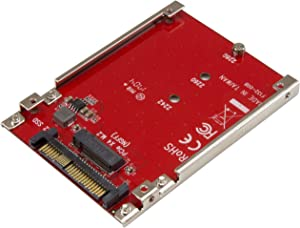 StarTech.com M.2 to U.2 Adapter - For M.2 PCIe NVMe SSDs - PCIe M.2 Drive to U.2 (SFF-8639) Host Adapter - M2 SSD Converter (U2M2E125),Red