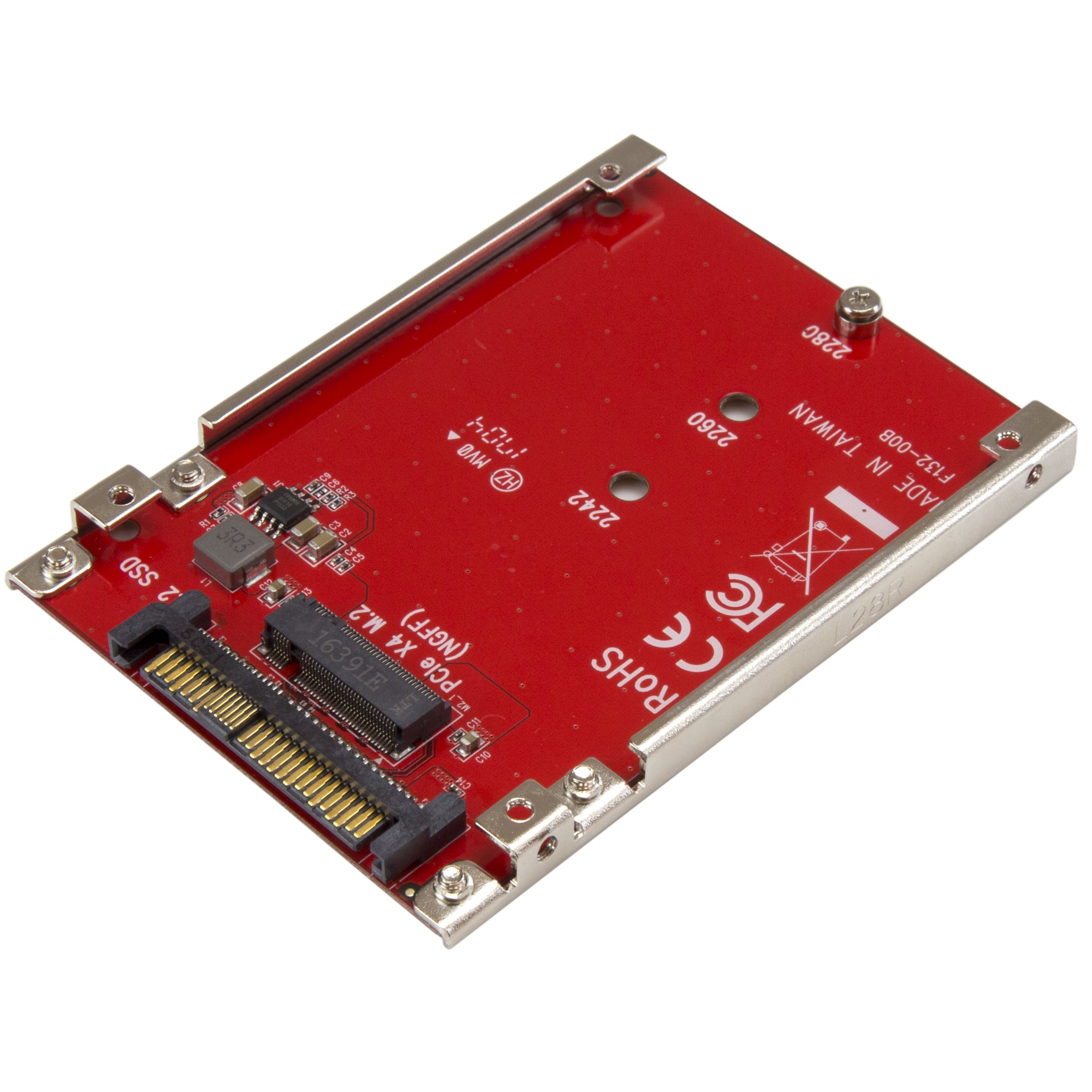 StarTech.com M.2 to U.2 Adapter - M.2 Drive to U.2 SFF-8639 Adapter - Works with M.2 PCIe NVMe Drives by StarTech (Image #1)