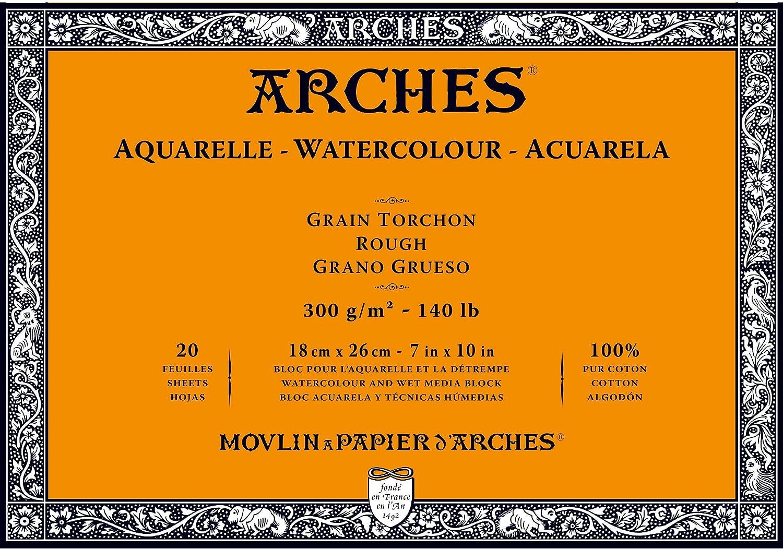 5.9 x 11.8 Rough Arches Water Colour Block 140lb // 300GSM