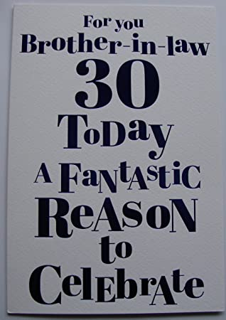 Happy 30th birthday brother in law birthday card amazon happy 30th birthday brother in law birthday card bookmarktalkfo Images