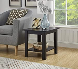 GTU Furniture Two Layers Home End Table (Cappuccino)