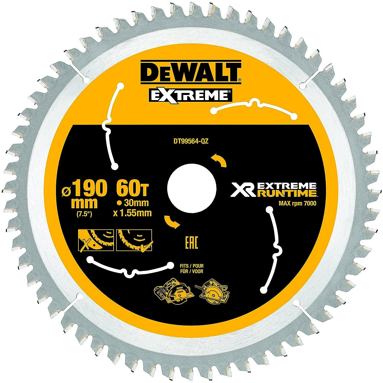 190 mm x 30 mm Dewalt XR Extreme Runtime Hand Circular Saw 1 Piece DT99564-QZ 60 WZ//FZ