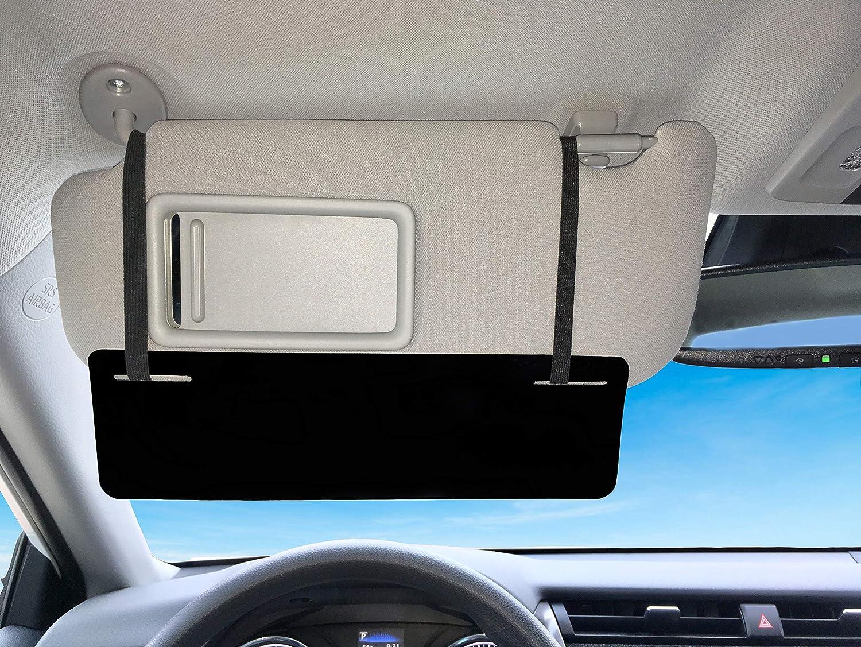 SlideVisor Black and Limo Tint Double Sun Car Visor Sunshade Extender Shade for Car Window Shade Shades/Anti-Glare Car Sun Visor Protects from Sun Glare