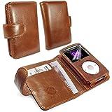 Tuff-Luv Vintage Leder Wallet Cover Schutzhülle für Apple iPod Classic, Braun