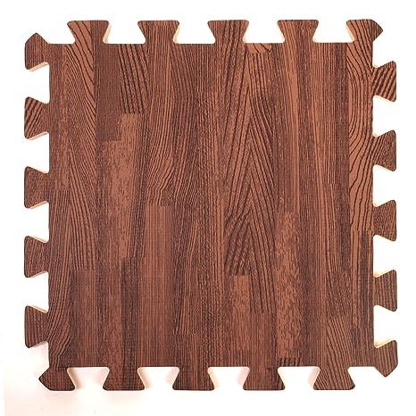 Tappeto effetto legno in schiuma ad incastro - Perfetto come piano ...