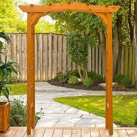Amazon Com Leisure Season Wa6180 Outdoor Wooden Arbor Trellis