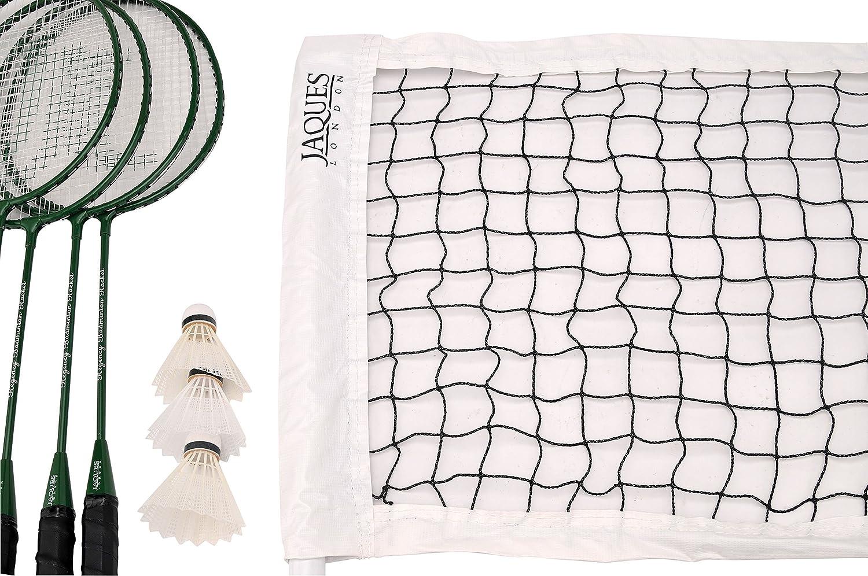 Badminton Set – Premium 4 player Set Includes 4 Badminton Racket Set, Badminton Net and Storage Bag - Regency Ultimate Quality - Jaques of London Garden Games Since 1795 17020