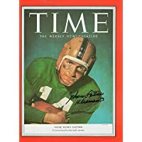JOHNNY LATTNER HAND SIGNED 8x11 PHOTO+COA NOTRE DAME HEISMAN TIME MAGAZINE - Autographed College Magazines photo