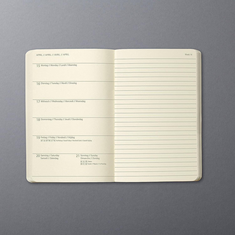 Sigel C1915 Agenda semanal 2019 y cuaderno CONCEPTUM, tapa dura, 10,8 x 15,1 cm, color negro
